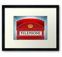 English Red Telephone Cabin Framed Print