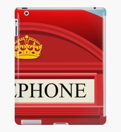 English Red Telephone Cabin iPad Case/Skin
