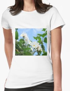 Anacahuita Blossoms  Womens Fitted T-Shirt