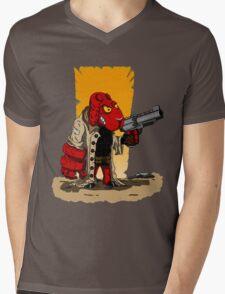 HELLSHEEP Mens V-Neck T-Shirt