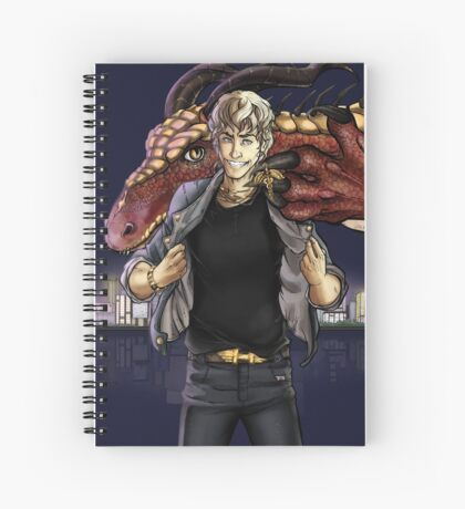 Hermes & Fafnir Spiral Notebook