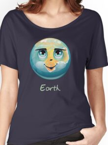 Cartoon Earth Women's Relaxed Fit T-Shirt
