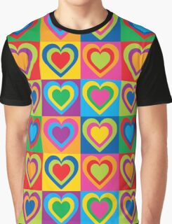 Pop Art Hearts Graphic T-Shirt