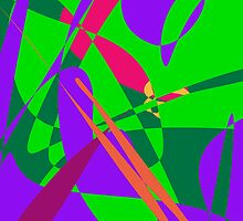 Blue and Green Abstract Composition by masabo