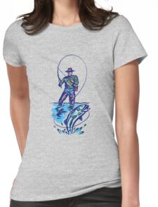 Let's Go Fishing T-Shirt Womens Fitted T-Shirt