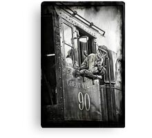 Engineer of The Great Western Canvas Print