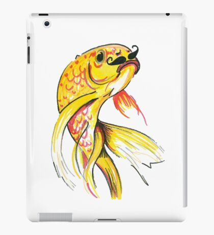 Fish with Moustache iPad Case/Skin