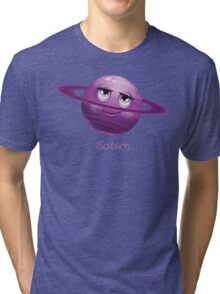 Cartoon Saturn Tri-blend T-Shirt
