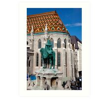 St. Stephen Stands Watch Art Print