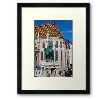 St. Stephen Stands Watch Framed Print