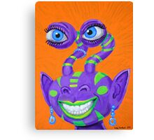 Tribal Sclera Irisanian Portrait Canvas Print