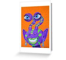 Tribal Sclera Irisanian Portrait Greeting Card