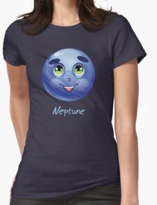 Cartoon Neptune Womens Fitted T-Shirt