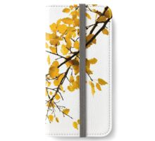 Autumn leaves against overcast sky iPhone Wallet/Case/Skin