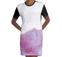 Pink Frost Graphic T-Shirt Dress