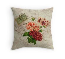Decoupage anemone iphone Throw Pillow