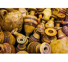 Ancient greek amphorae, Milan, Italy Photographic Print