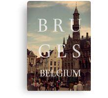 Bruges, belgium Canvas Print
