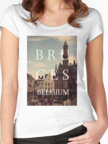Bruges, belgium Women's Fitted Scoop T-Shirt