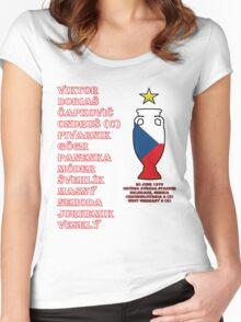 Czechoslovakia Euro 1976 Winners Women's Fitted Scoop T-Shirt