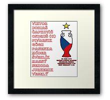 Czechoslovakia Euro 1976 Winners Framed Print