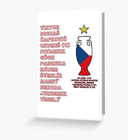 Czechoslovakia Euro 1976 Winners Greeting Card