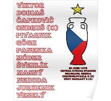 Czechoslovakia Euro 1976 Winners Poster