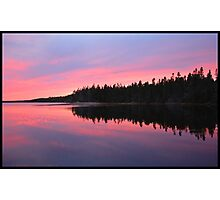 Red Fire Sky Photographic Print