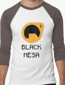 Black Mesa pixelated Men's Baseball ¾ T-Shirt