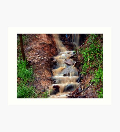 Hillside Waterfall Art Print