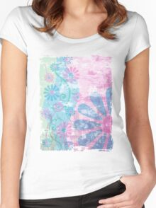Floral Grunge Women's Fitted Scoop T-Shirt