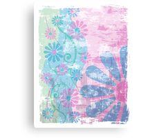 Floral Grunge Canvas Print