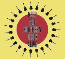 Keep The Southern Blues Alive Kids Tee