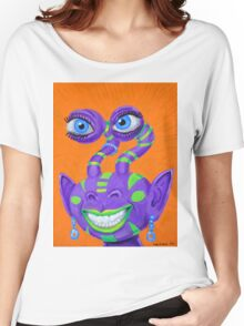 Tribal Sclera Irisanian Portrait Women's Relaxed Fit T-Shirt