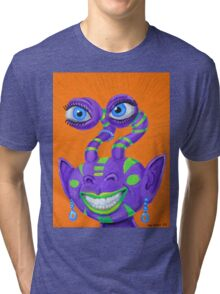 Tribal Sclera Irisanian Portrait Tri-blend T-Shirt