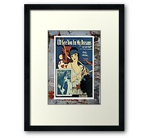 I'll See You In My Dreams Flapper Vintage Sheet Music Framed Print