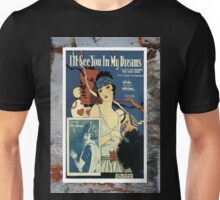 I'll See You In My Dreams Flapper Vintage Sheet Music Unisex T-Shirt