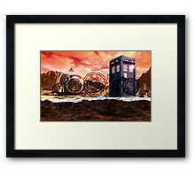 Doctor Who - Tardis, Gallifrey and Doctor's Name Framed Print