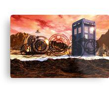 Doctor Who - Tardis, Gallifrey and Doctor's Name Metal Print