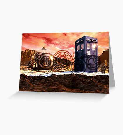 Doctor Who - Tardis, Gallifrey and Doctor's Name Greeting Card