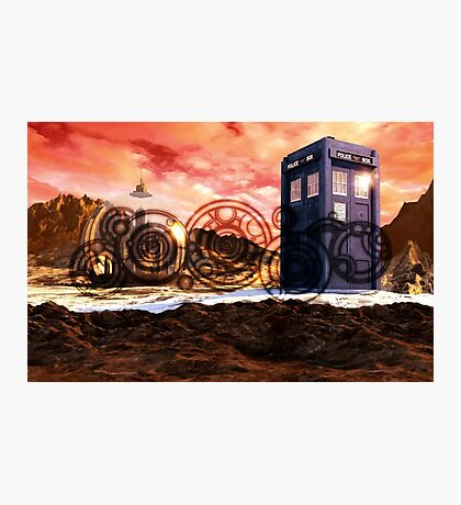 Doctor Who - Tardis, Gallifrey and Doctor's Name Photographic Print