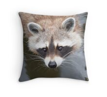 Portrait of a Racoon Throw Pillow