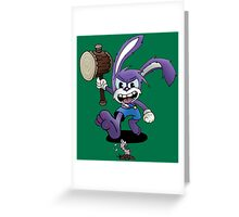 Wacky Wabbit Greeting Card