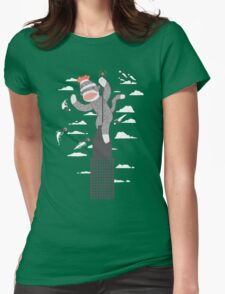 Sock Monkey Just Wants a Friend Womens Fitted T-Shirt