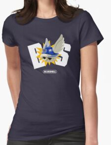 Blue Shell = BS  Womens Fitted T-Shirt