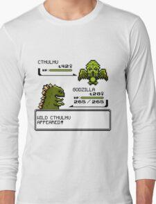 Wild CTHULHU Appears!  Long Sleeve T-Shirt
