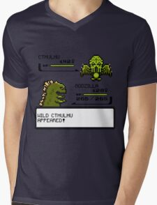 Wild CTHULHU Appears!  Mens V-Neck T-Shirt