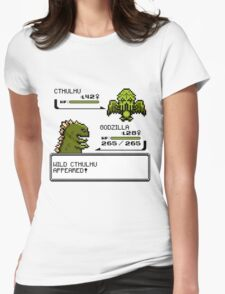 Wild CTHULHU Appears!  Womens Fitted T-Shirt