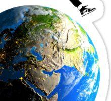 Jordan Jumping over the Earth Sticker