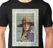 I'll Tell The World Vintage Piano Sheet Music Unisex T-Shirt
